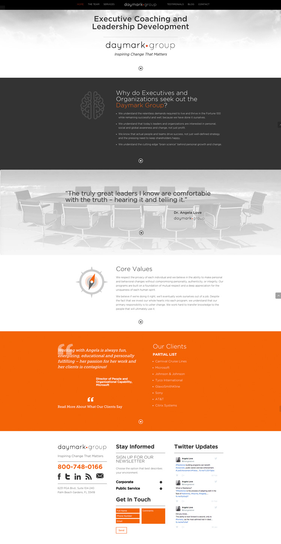 Website Design For Daymark Group Spark Lab Design And Marketing